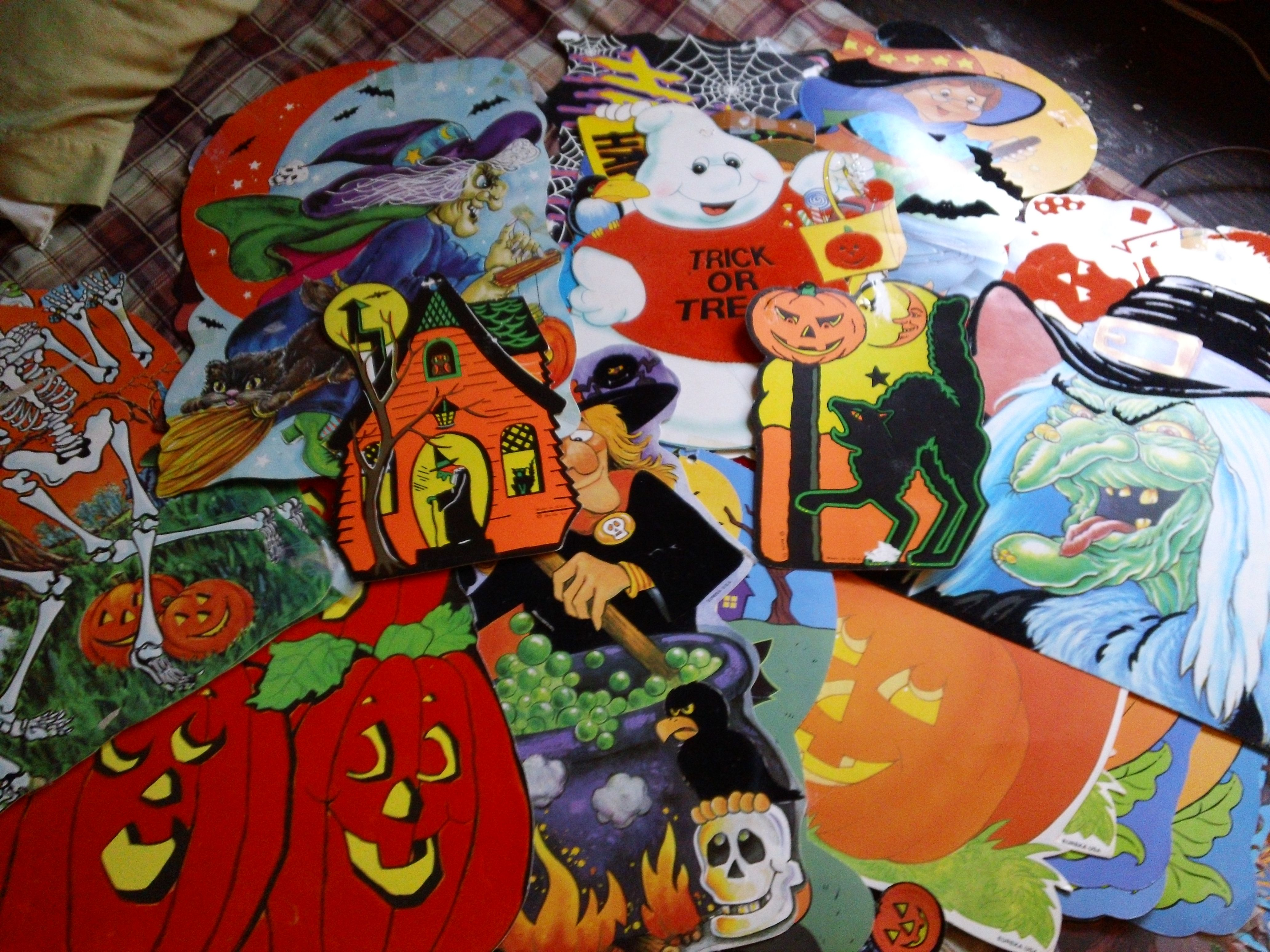 Vintage halloween decorations - Love This Collection Paper Halloweenhalloween Decorationscut
