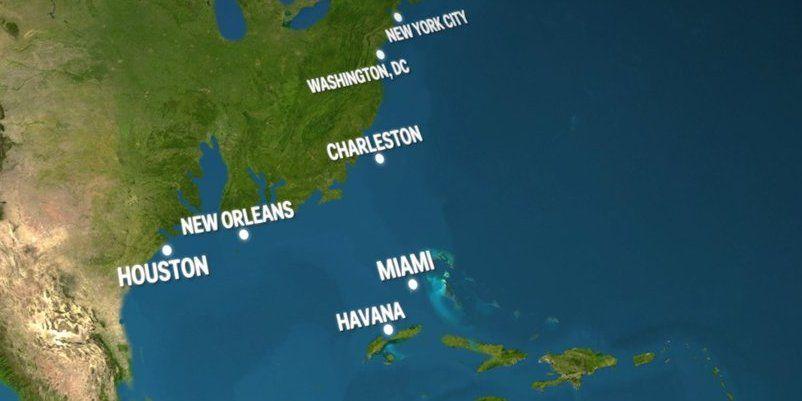 Animated Map Of What Earth Would Look Like If All The Ice Melted