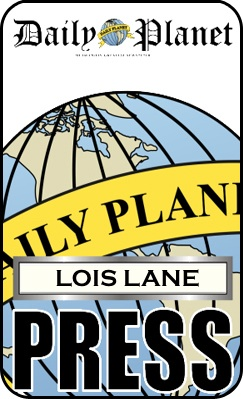 photo relating to Lois Lane Press Pass Printable named Lois Lane Thrust badge Lois Lane Clark Kent/Superman