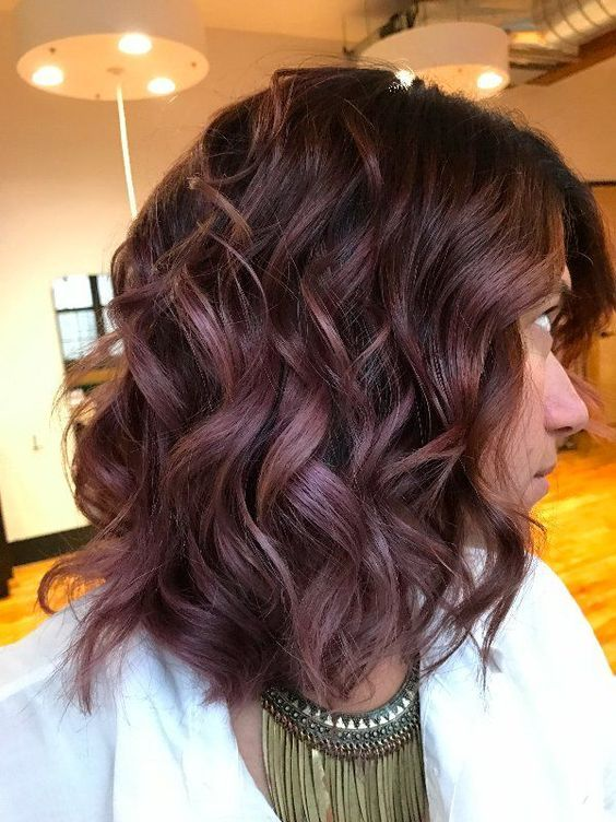 Fall Hairstyles Captivating Chocolate Mauve Is The Delicious New Color Trend You Should Try This