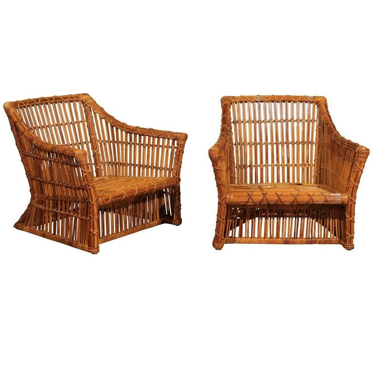 View This Item And Discover Similar Club Chairs For Sale At   An Absolutely  Stunning Pair Of Vintage Club Chairs By McGuire, Circa Examples From An ...
