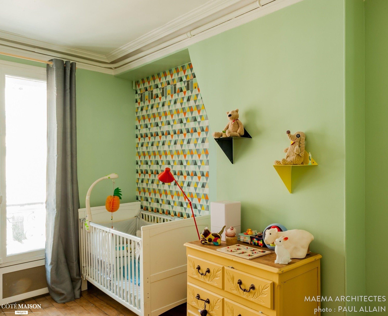Grand appartement familial parisien de 105 m2 : chambre d\'enfant ...