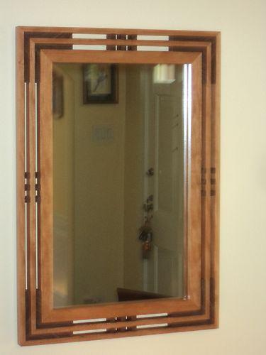 Handcrafted Arts Crafts Mission Prairie Style Cherry Mirror Wooden Mirror Frame Prairie Style Mission Style Bathroom