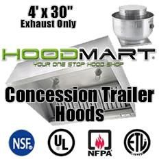 30 concession trailer exhaust hoods