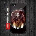 Grim Reaper Goth Emo #1 iPhone 4, 4S Case - Black Case #iPhone4 #iPhone4 #PhoneCase #iPhone4Case #iPhone4Case