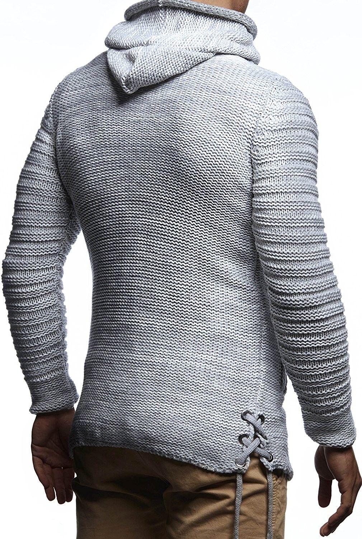 Men's Zip Knit Hoodie Slim Fit Grey CC187NHHS4L Knit