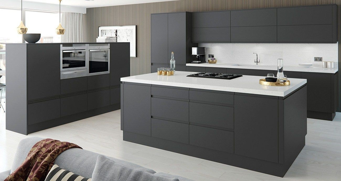 Cranford Charcoal And Grey Kitchen Fitted Kitchens From Betta