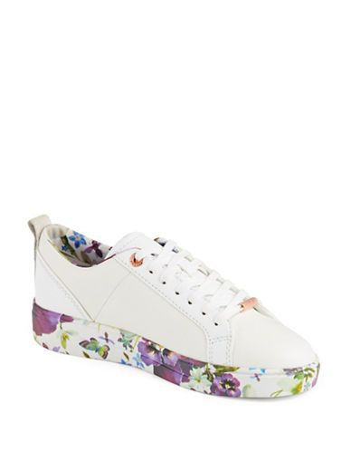 5c55aade7 Compare and shop from fashion stores for TED BAKER London Barrica Leather  Sneakers.