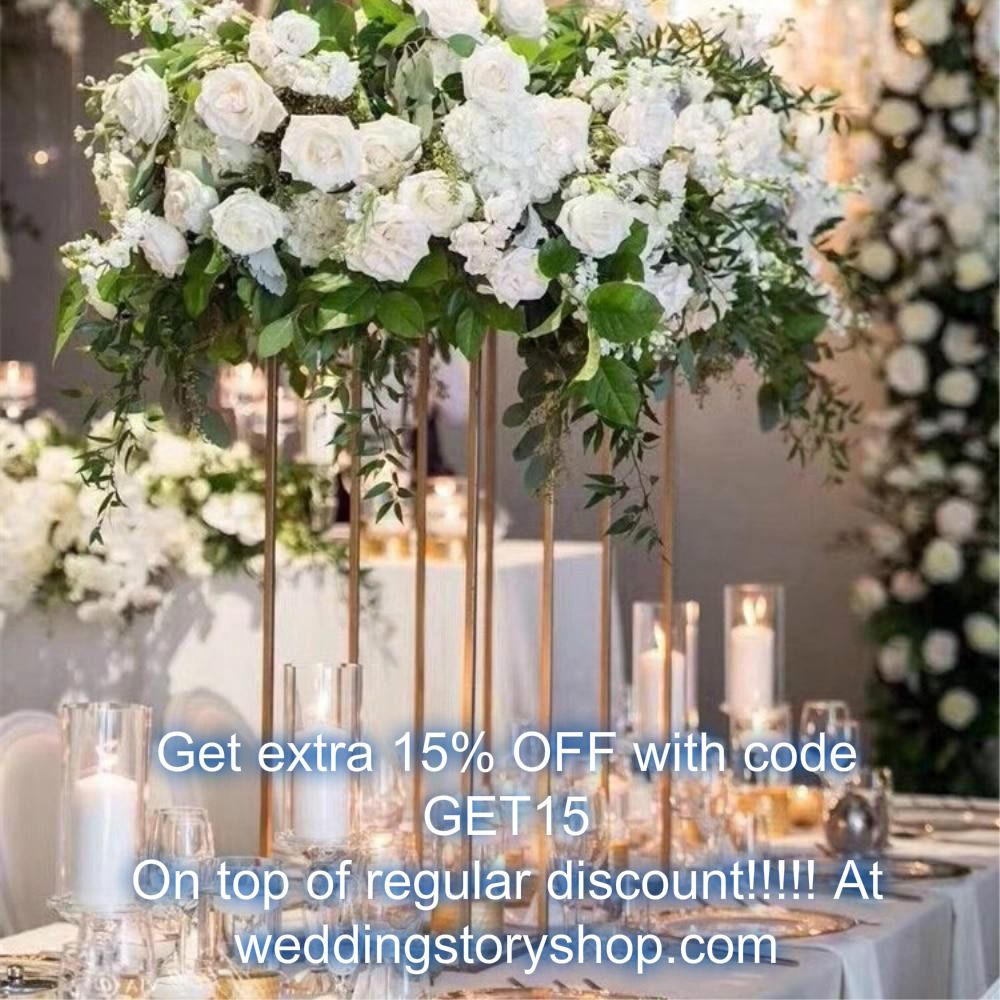 7b1692646be Gold Floor Column Vases Wedding Centerpiece 10 pcs in 2019 | flower ...