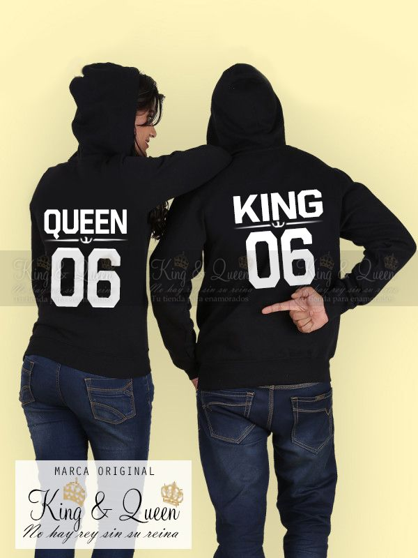H1071 2016 New Fashion Couples Sweatshirts KING QUEEN