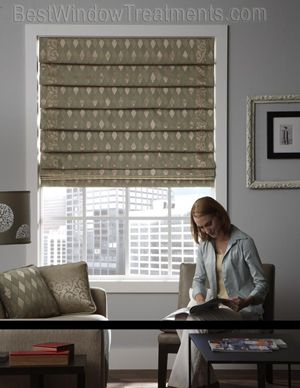 Custom Hobbled Waterfall Fabric Roman Shade Custom Window
