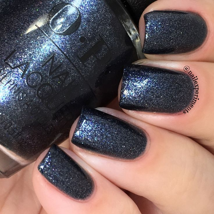 opi coalmates navy blue glitter nail polish….. #nails #nailpolish #sparkly #gl…