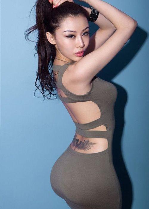 Gorgeous asians clothed