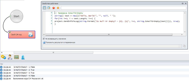 Результат проверки строки в Зеннопостере на null и string.Empty