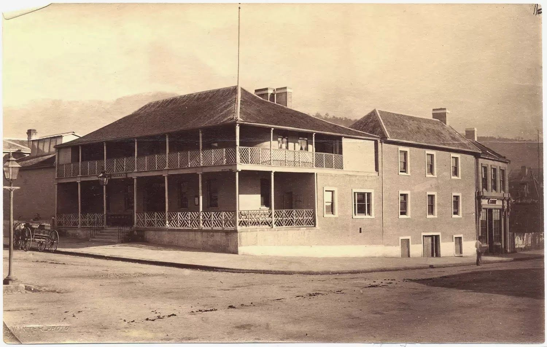 Thomas J. Nevin | Tasmanian Photographer: The Governor's Levee 1855: Captain Goldsmith and son Edward - Broadlans House, Hobart c 1868.
