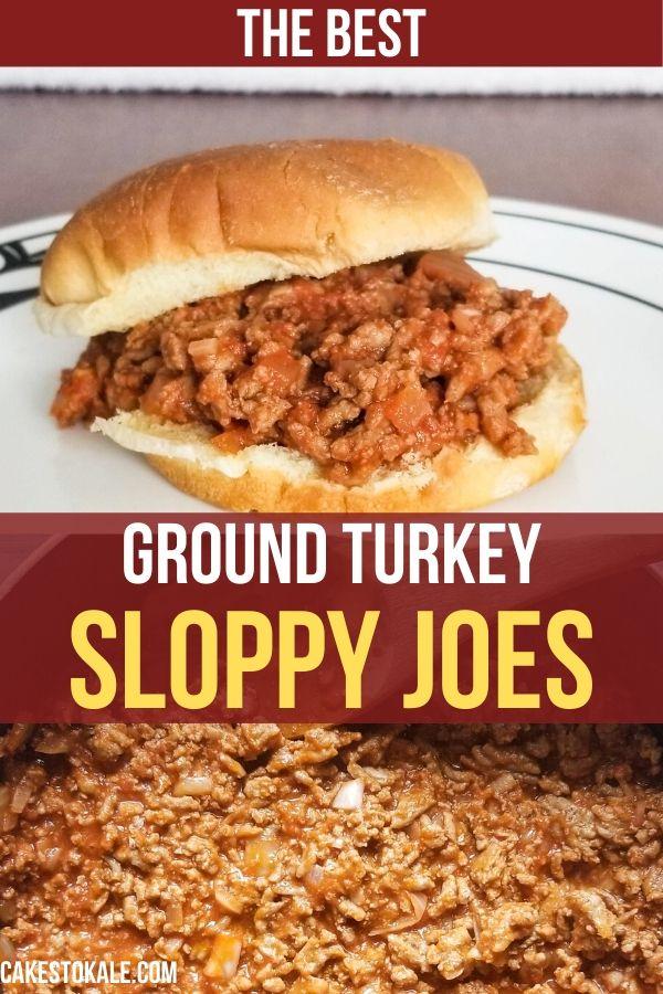 Healthy Sloppy Joes with Ground Turkey