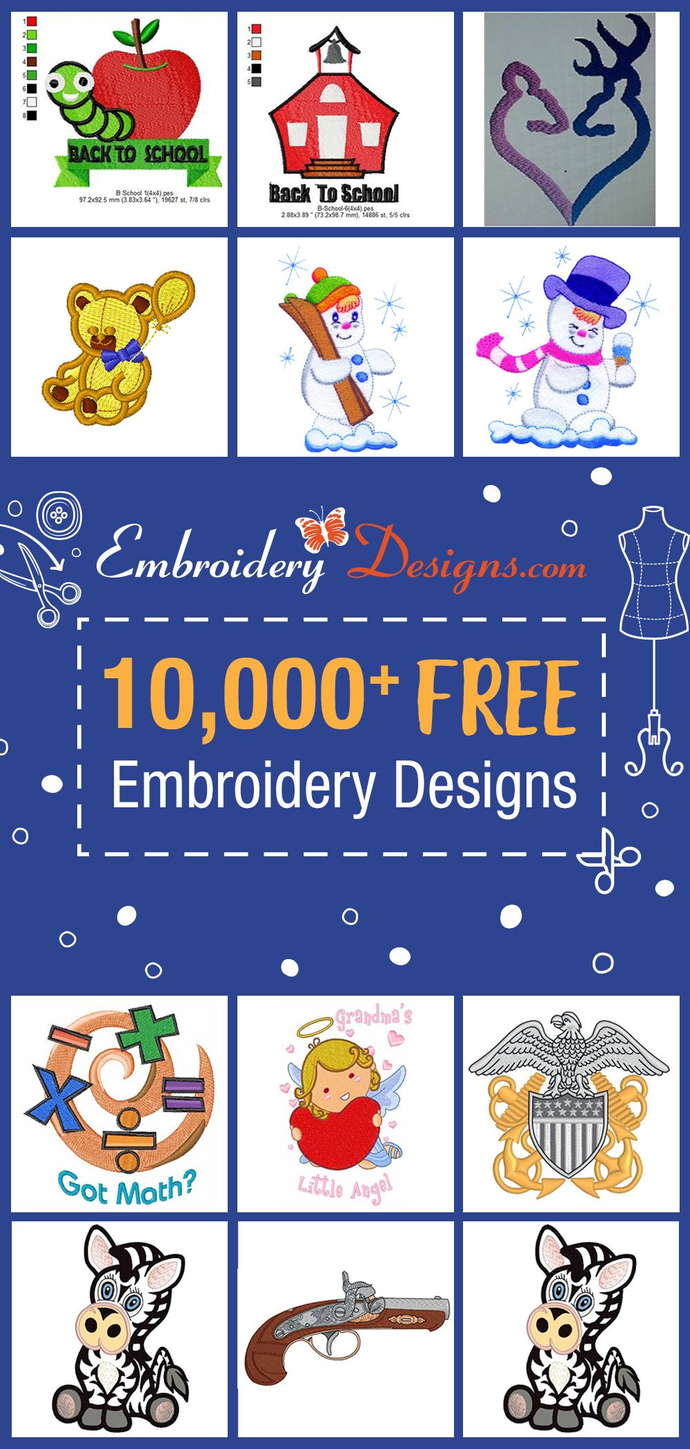 Free Machine Embroidery Designs in 2020 | Free machine ...