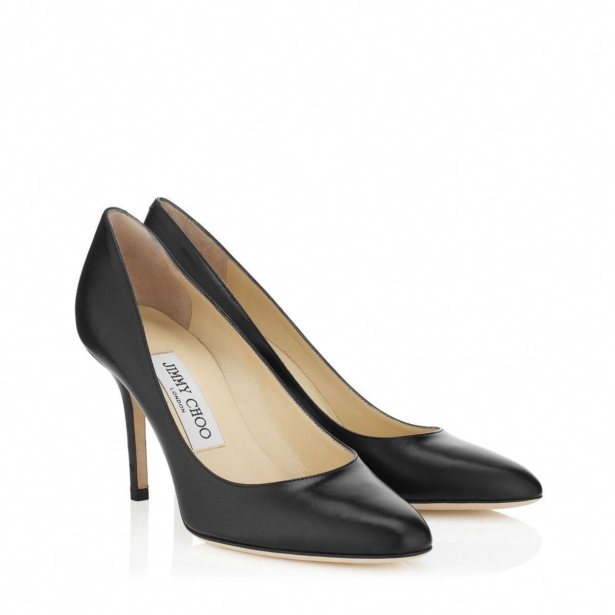 112fc997e1e7 Jimmy Choo - Gilbert - 247gilbertkid - Black Leather Round Toe Pumps - The  Gilbert is part of the iconic CHOO 24 7 collection. These classic Jimmy Choo  ...