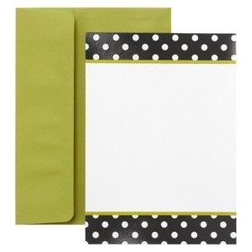 Dots Invitation Cards - Black/White (30 Counts) : Target Mobile