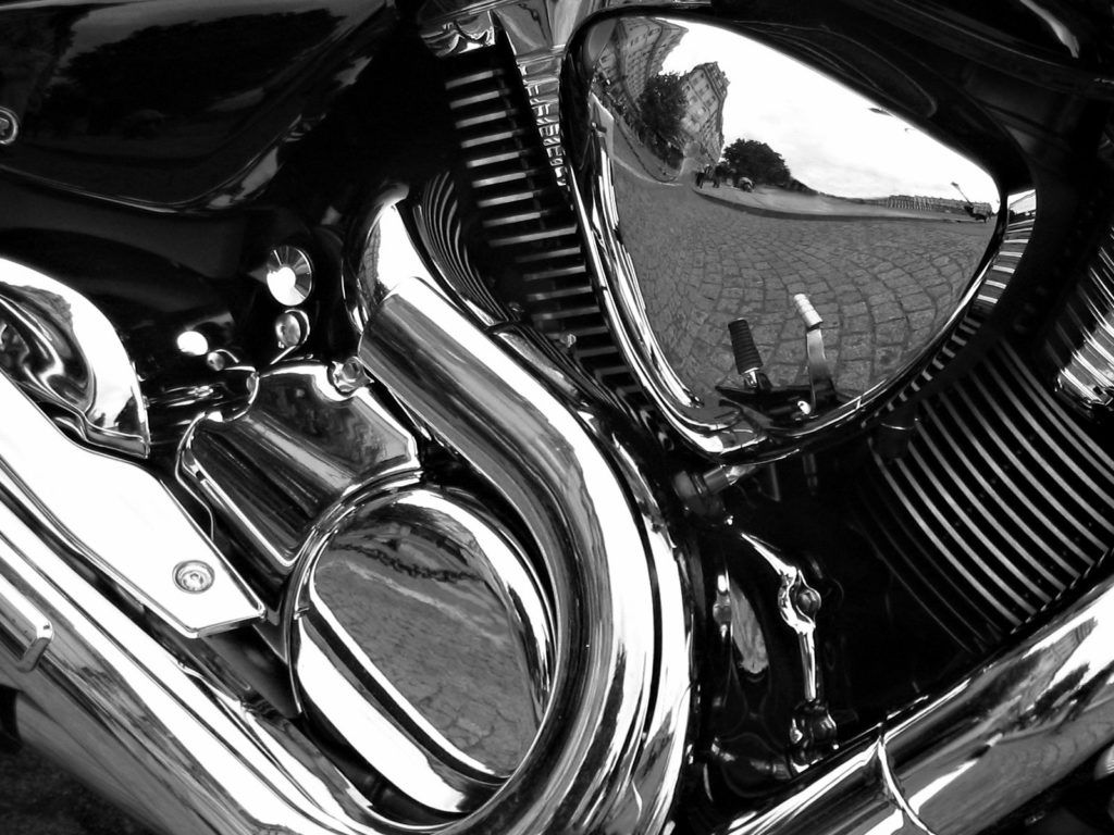 how to clean chrome on a motorcycle