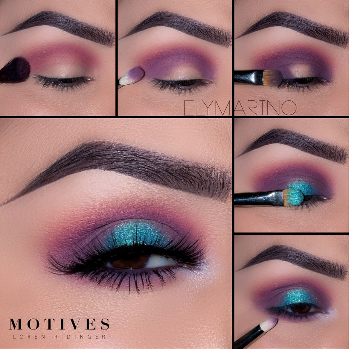 """112.Begin by blending """"Paper Doll"""" slightly above the crease 12.Using"""