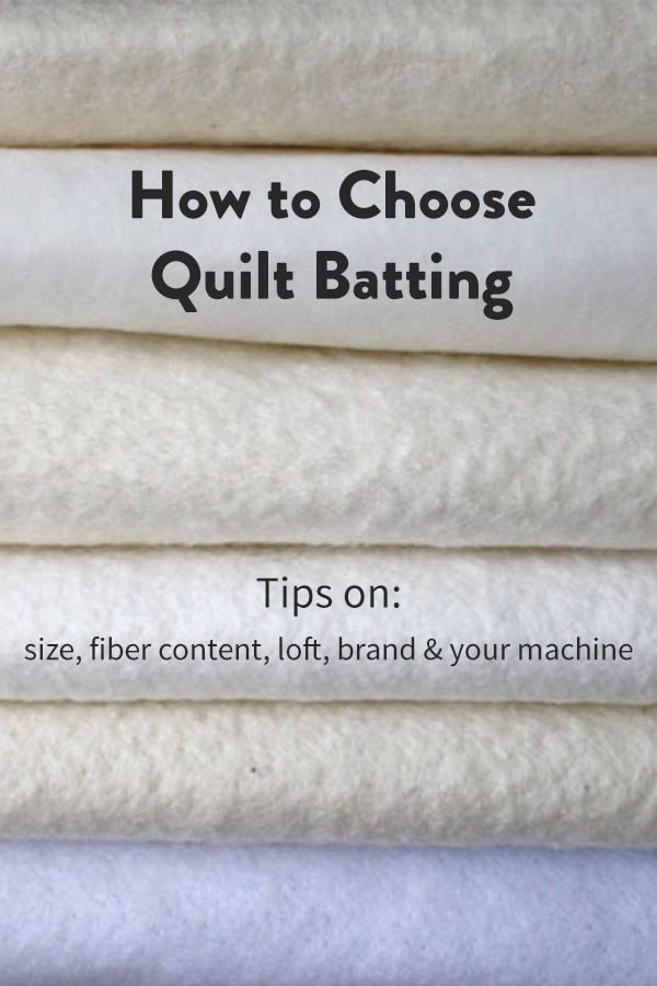 How to Choose Quilt Batting | Quilting projects, Sewing projects ... : filling for quilts - Adamdwight.com