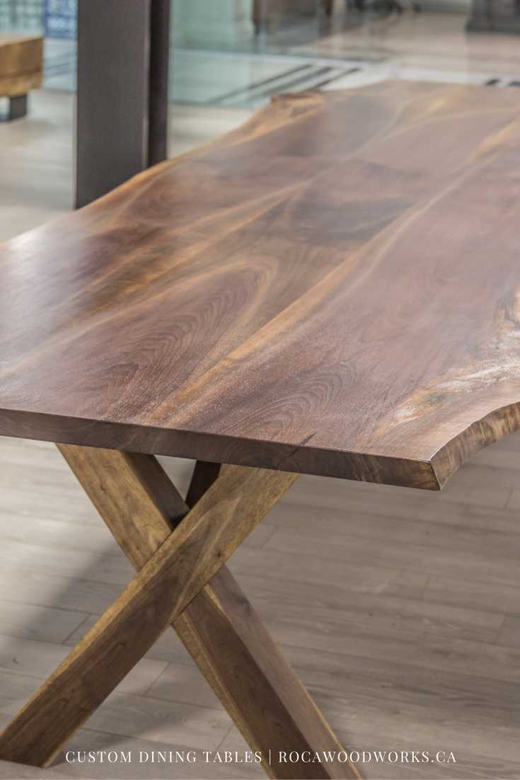 Custom Black Walnut Dining Table #rocawoodworks #ontariowood