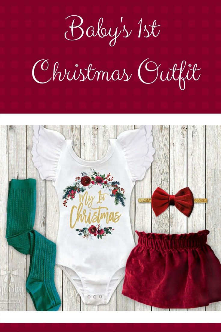 Baby Girl 1st Christmas Outfit Velvet First Christmas Dress Newborn ...