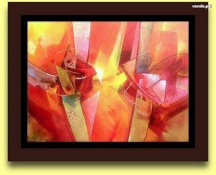 Cuadros al oleo abstractos modernos para sala y comedor lima lima  ...