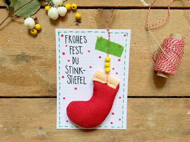 Weihnachtskarten Mit Duft.Baumschmuck Sonstige Weihnachtskarte Mit Duft Anhänger Du