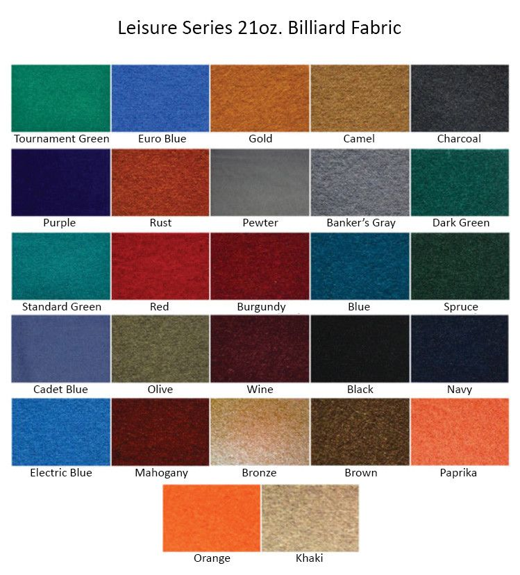 Pool Table Felt Colors