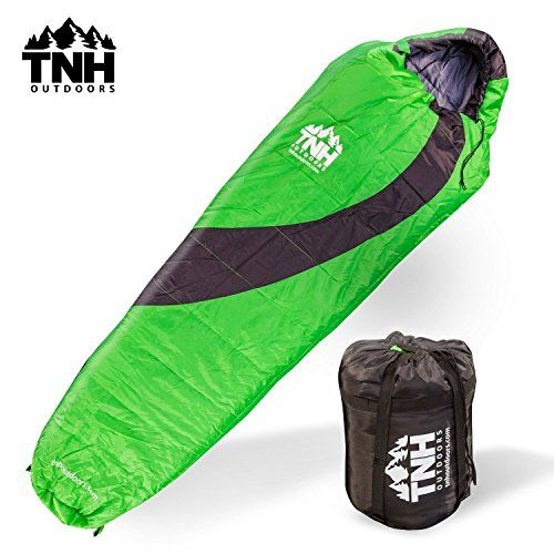 family camping bundle - Adult Sleeping Bag By TNH Outdoors - 3 - 4 Season Zero 0 Degree Loft Outdoor Camping Bag Waterproof Design with Zipper and Compression Sack ** You can get additional details at the image link. (This is an affiliate link) #adventure