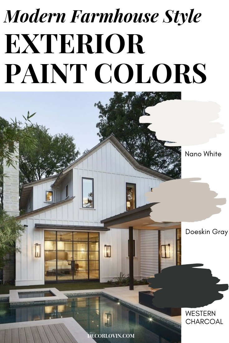 Modern Farmhouse Paint Colors For Your Exterior #modernfarmhousestyle