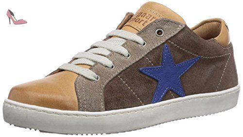 de5b254914bb09 Bisgaard Shoe with laces, Sneakers basses mixte enfant - Marron - Braun (37  Taupe