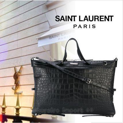 ●2017●Saint Laurent クロコ 2WAY 45×30 トートバッグ  小 サンローラン 2017 ファッション