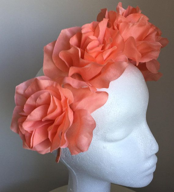 4268d226ac6 TheHeadwearBoutique on Etsy ( 42 USD)- Isabella Salmon Pink Flower Headband