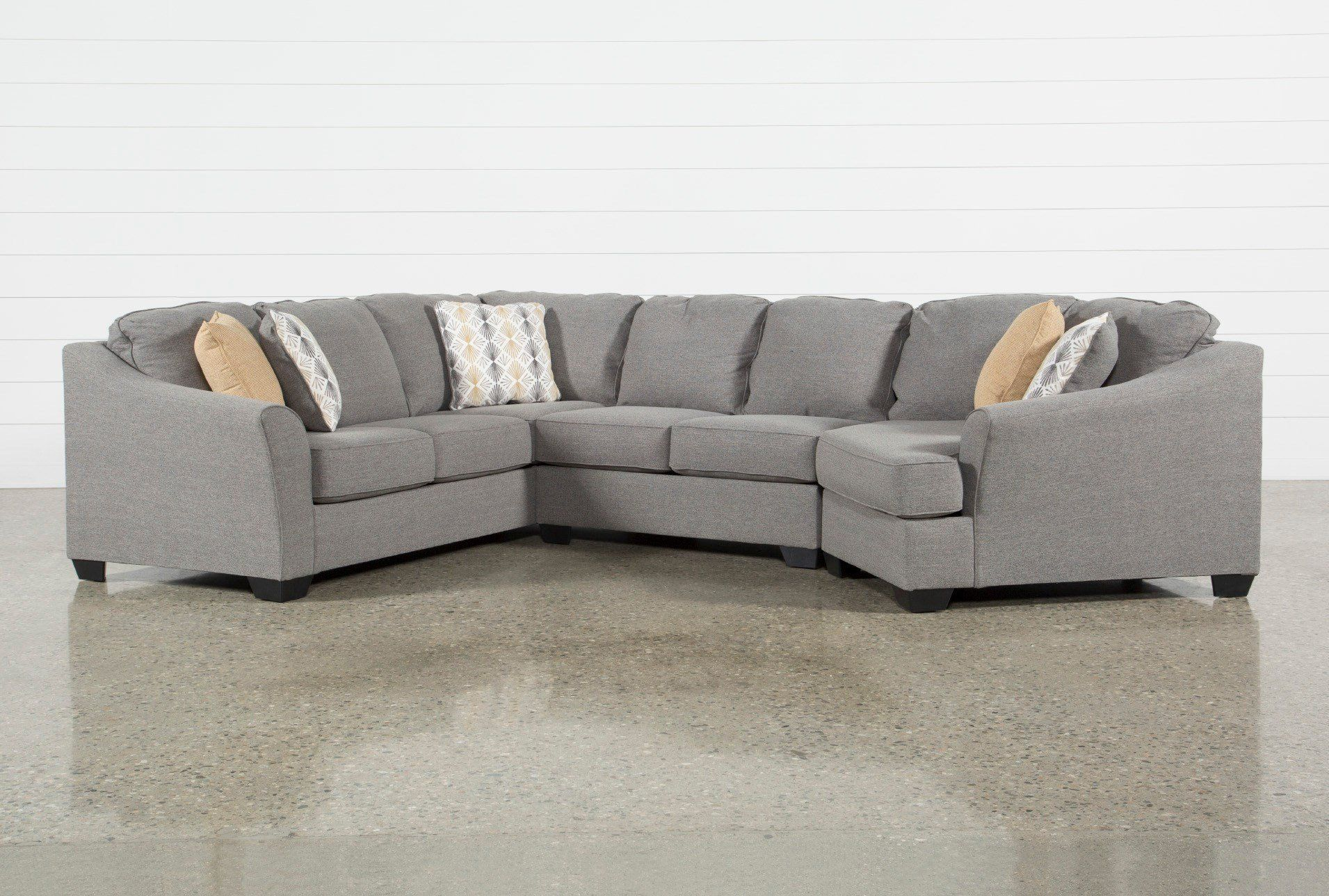 Best Ashley Fenton 3 Piece Sectional Sofa With Right Arm Facing 640 x 480