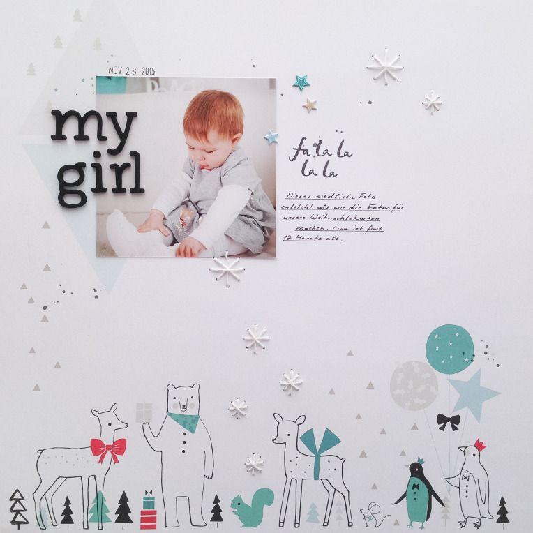 My girl - Layout mit Pinkfresh Studio Christmas Wishes von Ulrike ...