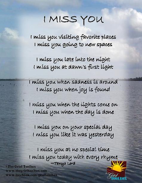 Missing you poem still I miss