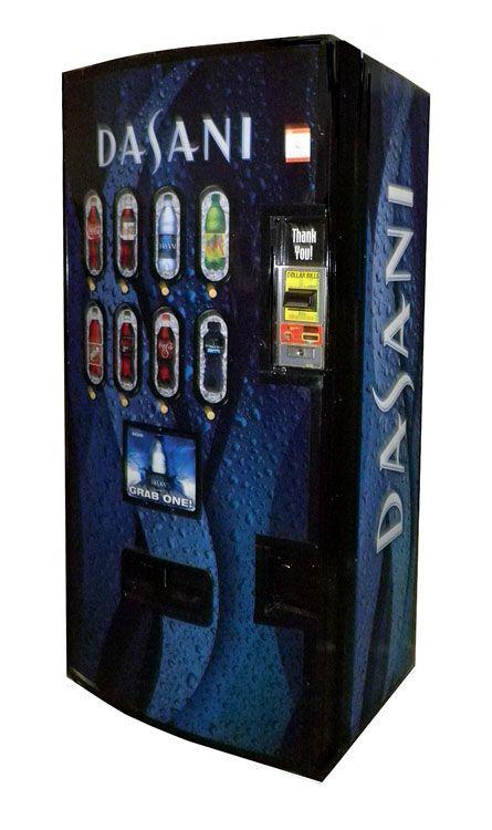 Dixie Narco Model 600e Bottle Soda Machine Dasani Water Soda Machines Soda Vending Machine Coke Machine