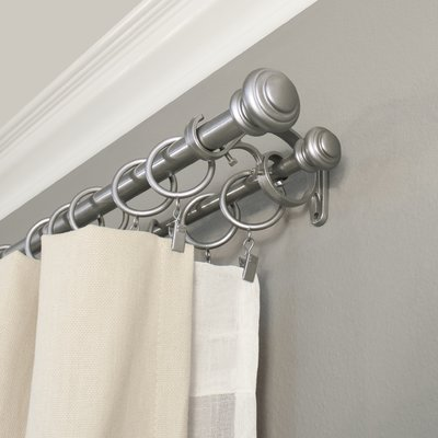 Darby Home Co Margery Double Curtain Rod And Hardware Set Size 72