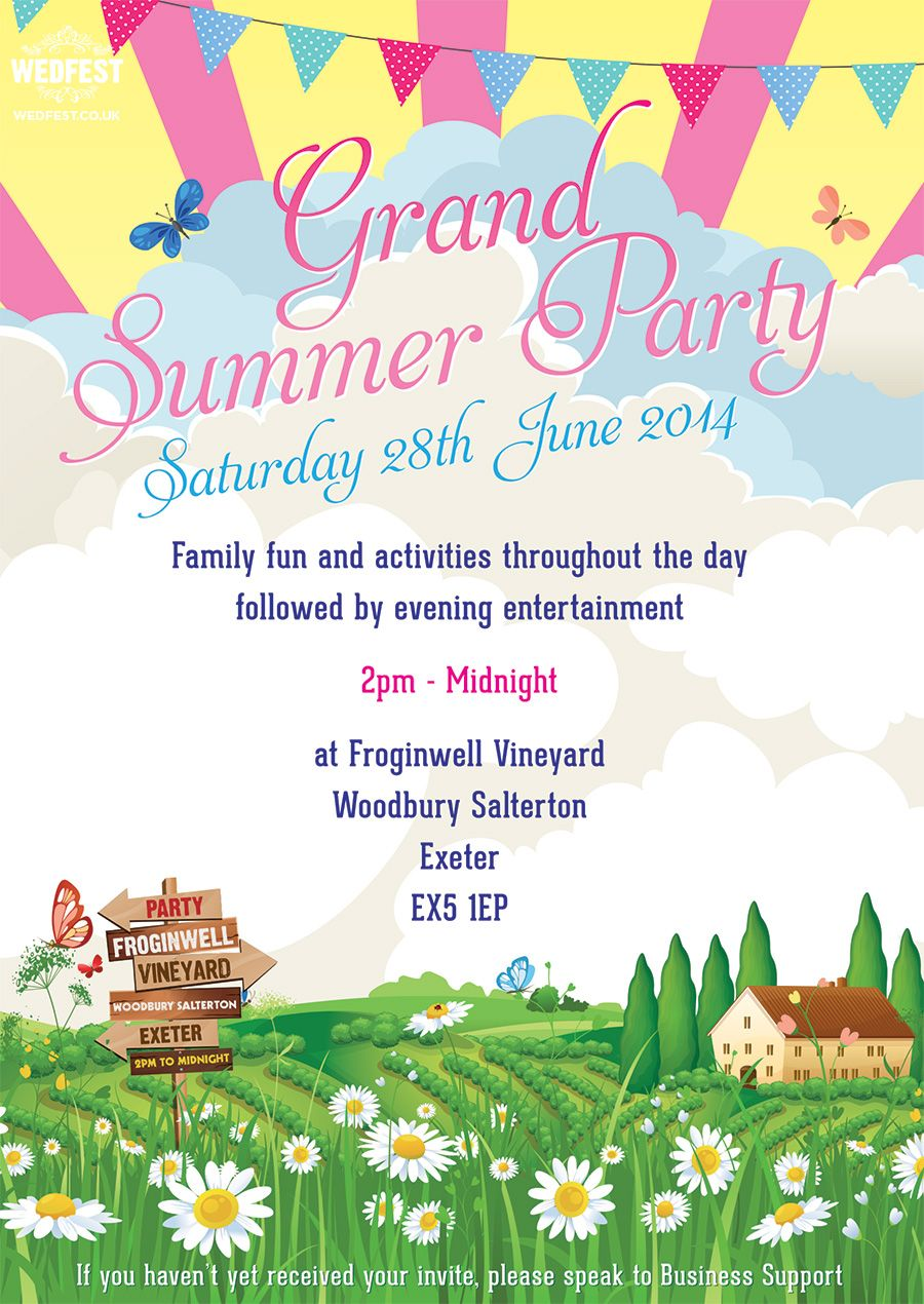 corporate event summer party poster designhttp://www.wedfest.co ...