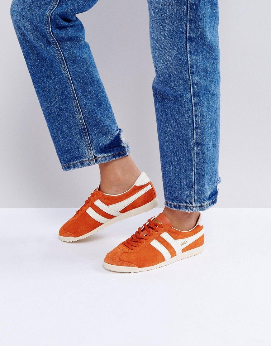 Gola Bullet Suede Sneakers In Orange