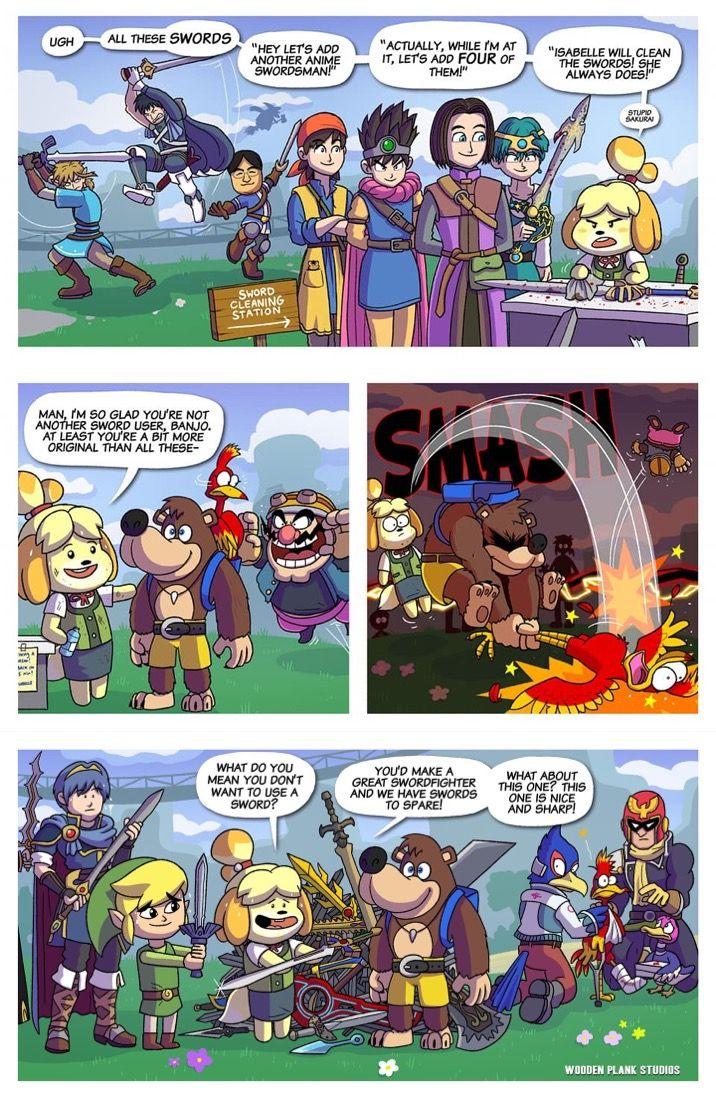 Pin by Ra on Comic Smash bros funny, Super smash bros