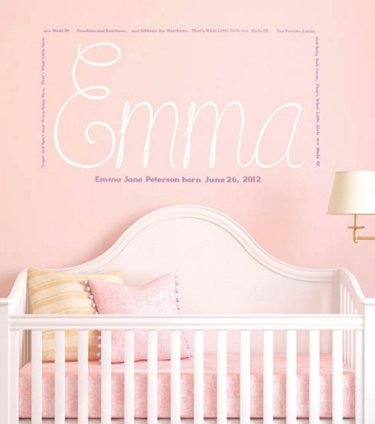 Getting Ready For Baby Make Your Own Wall Decal Sugar And Spice Cricut Wall Vinyl Name Wall Stickers Personalized Wall Decals Childrens Wall Decals