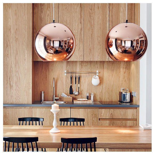 Tom Dixon Copper Shade 45cm Pendant Lighting Vertigo Home Met Afbeeldingen Koperen Lampen Eetkamer Lamp Design Interieur