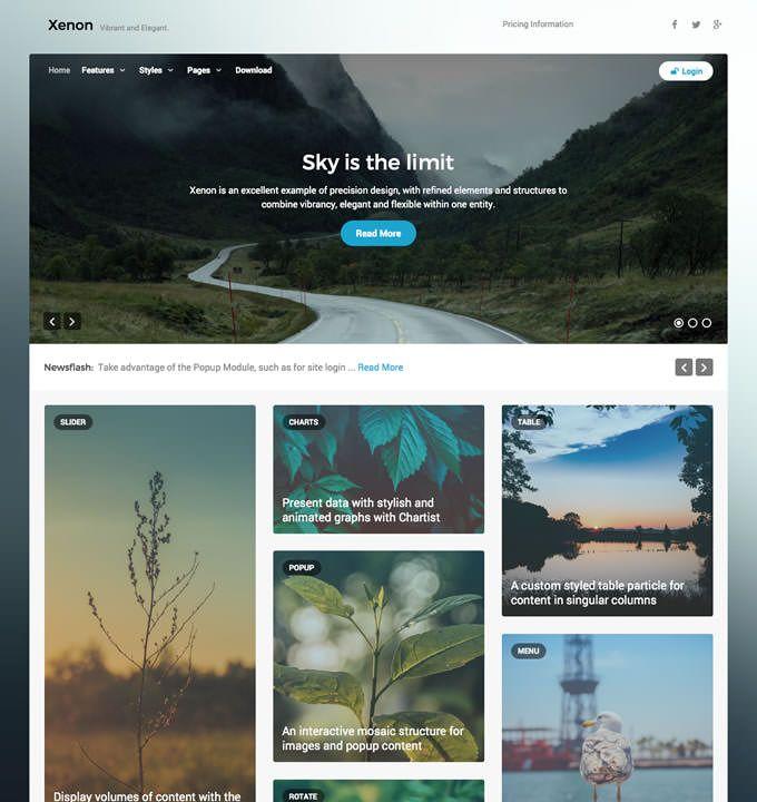 RocketTheme - Joomla Templates - Xenon | joomla | Pinterest | Template