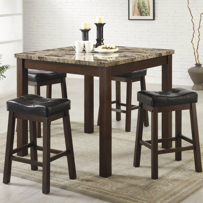 The Red Barrel Studio Iverson 5 Piece Counter Height Dining Set