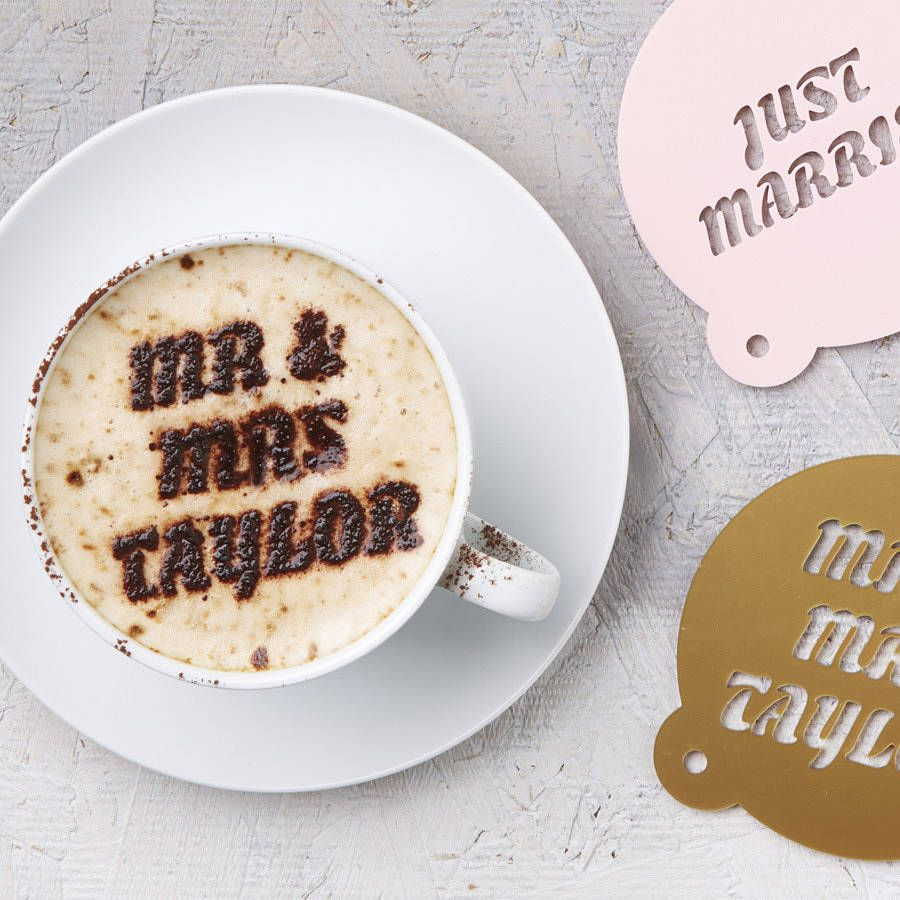 Personalised Wedding Coffee Stencil | Wedding, Wedding tables and ...