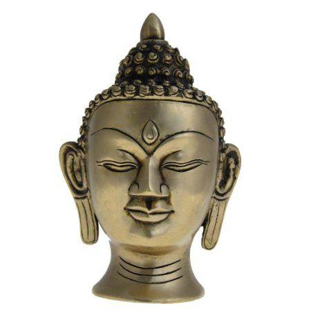 Amazon.com: Buddha Head Brass Religious Sculptures: Furniture & Decor